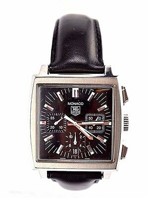 Men's Tag Heuer CW2111 Stainless Steel Monaco Automatic Chronograph Watch  WA286
