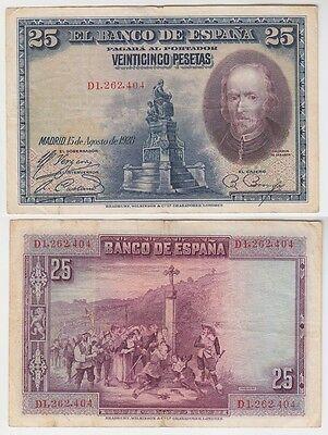 5 Pesetas Banknote Spanien 1928(111485)