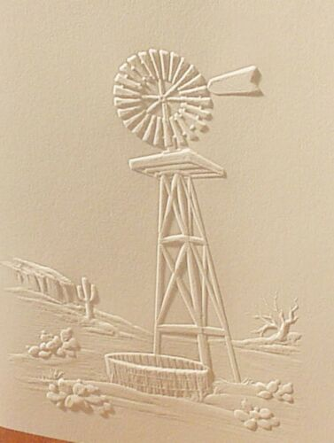 Embossed Windmill Note Cards Don