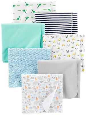 Simple Joys by Carter's Baby Boys' 7-Pack Flannel Receiving Blankets  A Baby Flannel Blankets