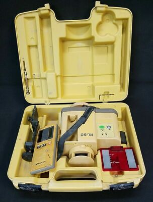 Topcon Rl-50 Indooroutdoor Rotary Laser Level With Receiver Target - 95
