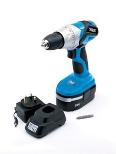 Draper 18V Cordless Rotary Drill Driver with Ni-MH Battery 83576