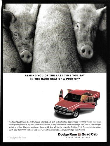 Dodge Ram Hogs Magazine Print Ad