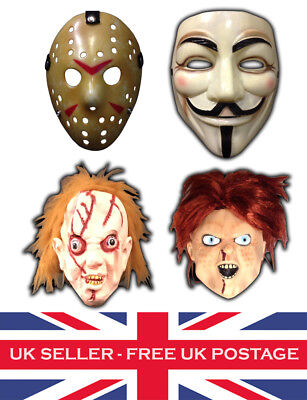Halloween Masks Mask Jason Voorhees V Vendetta Chucky Cracked Doll Fancy Dress - Chucky Doll Halloween Mask