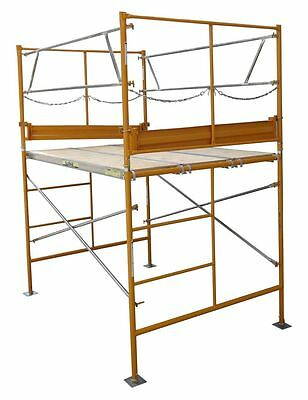 5 Stationary Tower W Deluxe Safety Rails - 5 Scaffold Tower