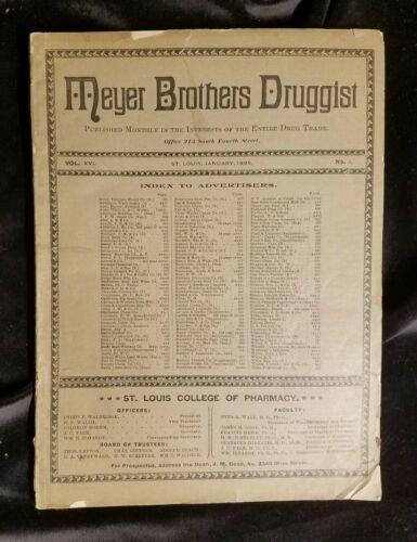 1895 MEYER Brothers Druggist Drug Trade St Louis Lots Of Medical Advertising