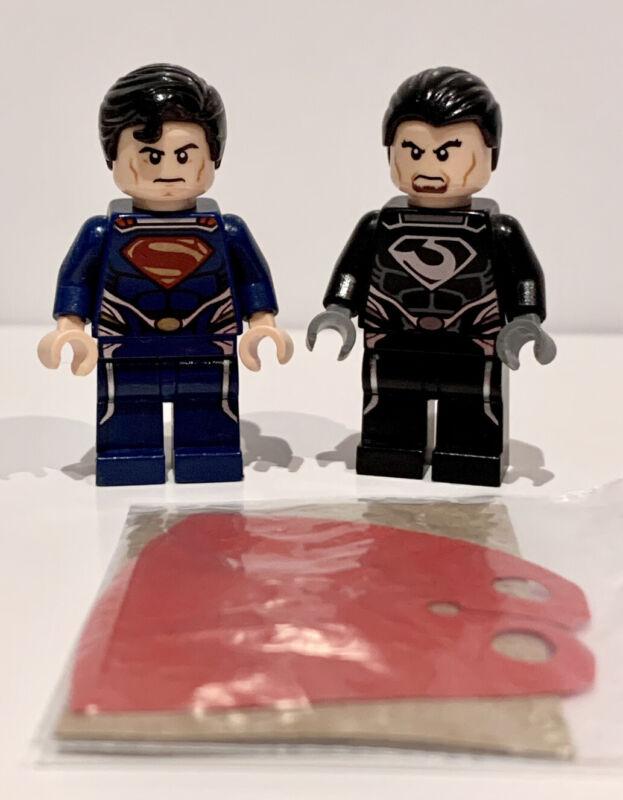 Lego+minifigure+SH077+Superman+SH078+General+Zod+Super+Heroes+76002+Metropolis