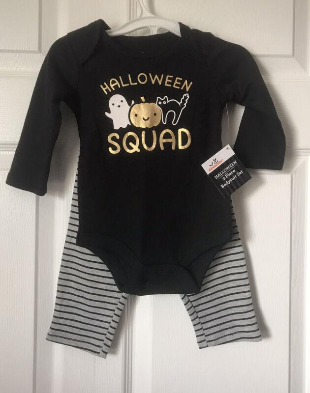 Way To Celebrate! Halloween Squad Baby Girls 2 Piece Set Bodysuit & Pants 6-9M