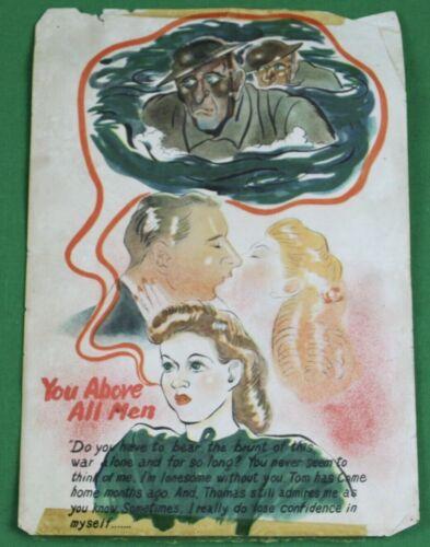WWII Japanese Propaganda Leaflet  Adultery Infidelity Disloyalty British USA