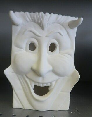 Quick Halloween Treat (Dracula Halloween Trick or Treat Bag Light UP *Ceramic Bisque Ready to Paint)