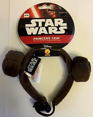 Star Wars Princess Leia Dog Headband Costume Accessory Size S/M - NWT by Rubies  - Princess Leia Costume Dog