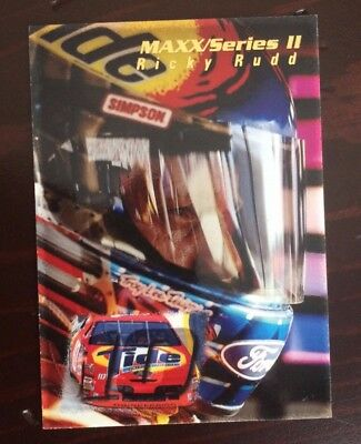 1995 Maxx Series II Nascar Racing Ricky Rudd Promo Card