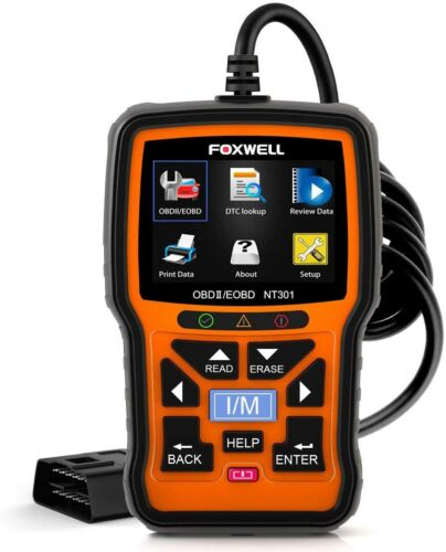 FOXWELL NT301 OBD2 Scanner Professional Mechanic OBDII Diagnostic Code Reader To