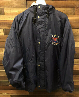 Vintage 90's Disney Store Goofy Full Zip Embroidered Lined Jacket Size Medium