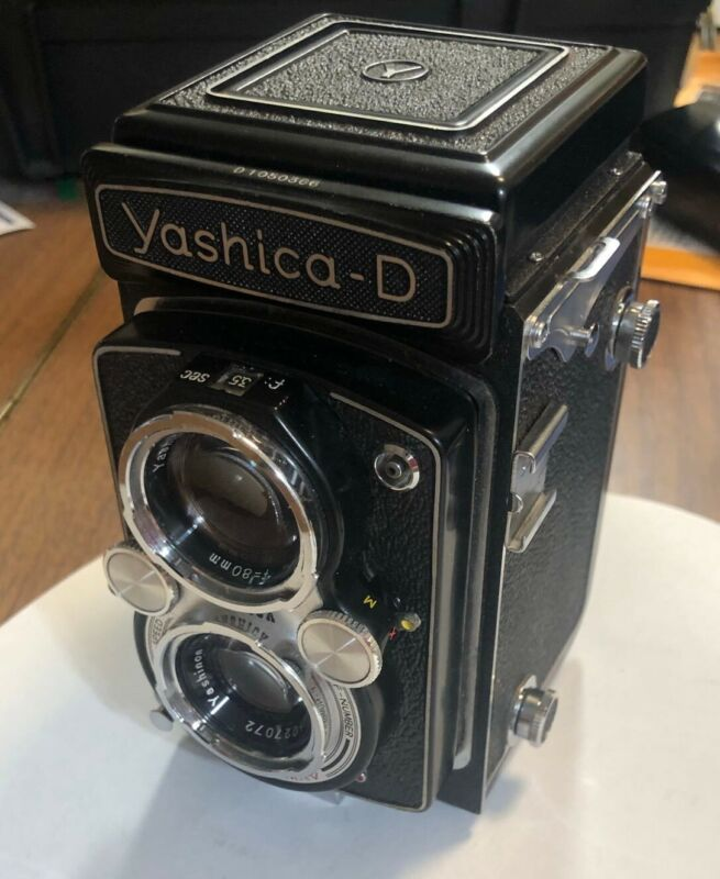 Yashica D TLR w/ Yashinon lenses and 2.8 viewing lens
