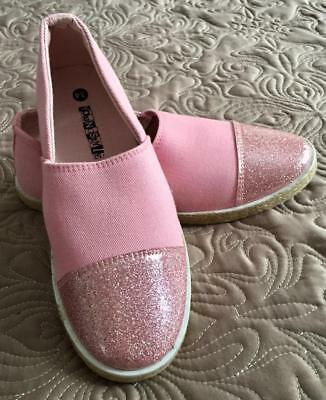 Pink with a glittery toe cover girl flats size 34 - Cover Girl Schuh