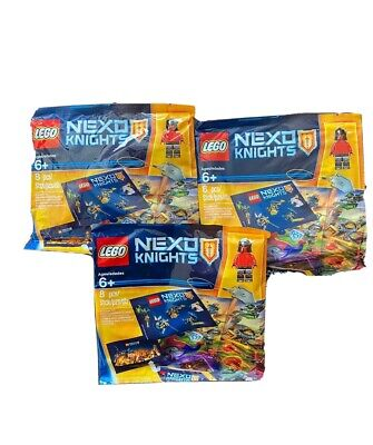 Lot Of 3 LEGO Nexo Knights Minifigure And Keychain Polybag 2016 NEW  6142153