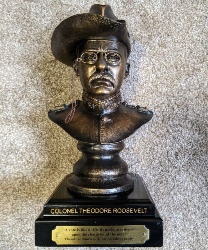 Colonel Theodore Teddy Roosevelt Bust Statue Sculpture Friends of NRA MINT