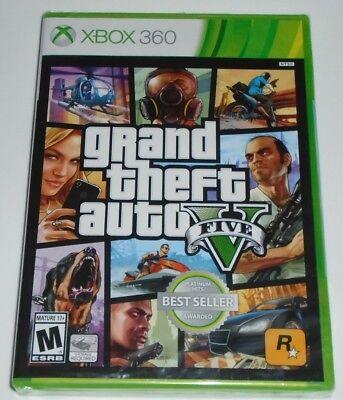 Grand Theft Auto V (Microsoft Xbox 360, 2013)  BRAND NEW + FREE SHIPPING