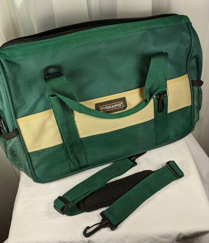Fiskars Green Duffle Craft Bag Scissors Organizer Tote 10999
