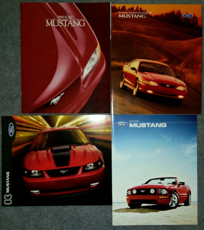 4 Ford Mustang Dealer Brochures 1995 1998 2003 2006