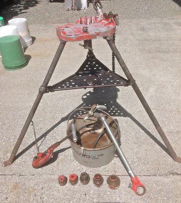Ridgid Threader Set With Ridgid Oiler Tristand Cutter 5 Ridgid Die