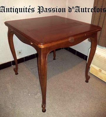 M201710 - Jolie table en chêne avec allonges  +- 1970 - Très bon état