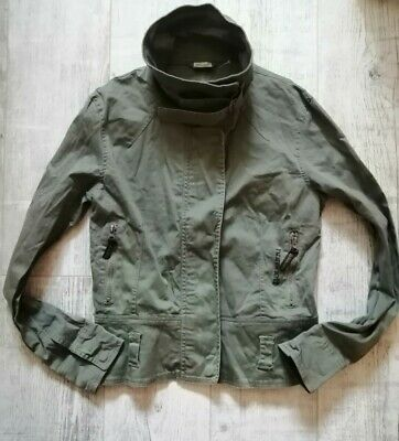 KATHARINE HAMNETT Ladies VINTAGE Style COMBAT Jacket KHAKI Green SIZE 14 Superb
