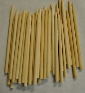 CARAMEL CANDY APPLE / CORN DOG STICKS 200ct- Pointed Wood Skewers Dowels 6