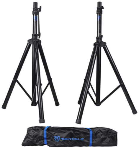 Pair Rockville RVES1 Adjustable Tripod DJ PA Speaker Stands+