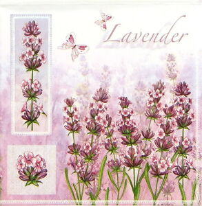 4x-Single-Luxury-Paper-Napkins-for-Decoupage-Craft-Vintage-Lavender