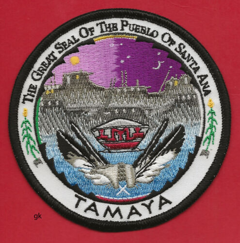 GREAT SEAL OF THE PUEBLO OF SANTA ANA-TAMAYA NEW MEXICO TRIBAL PATCH