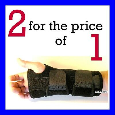 2 FDA APPROVED Wrist Hand Brace Carpal Tunnel Support Splint Band By (Wrist Splints Carpal Tunnel)