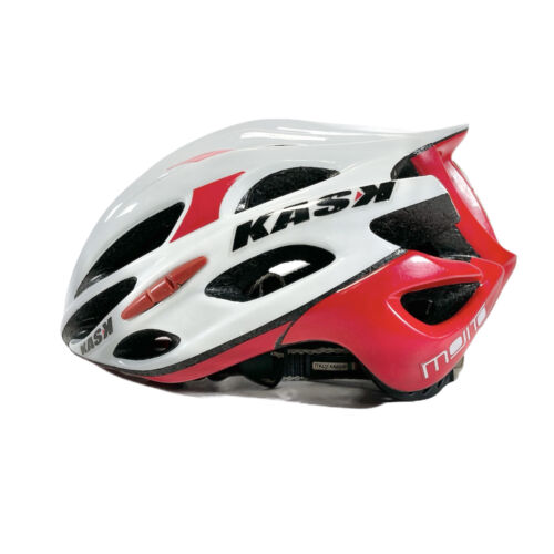 Kask Mojito Medium Bike Helmet Road Cycling 48-58cm Made In Italy White Red