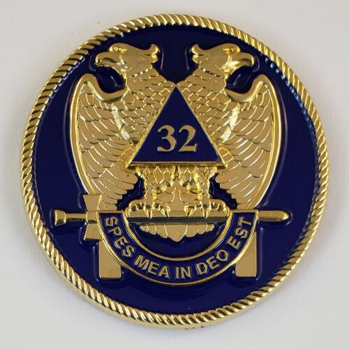 Mini Auto Emblem Scottish Rite 32 Metal Masonic Freemason Mason