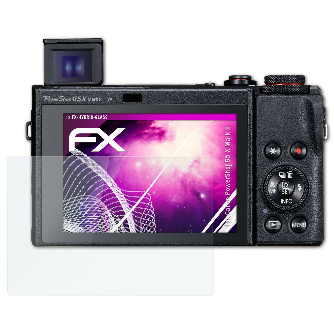 2x protector de pantalla mate Canon PowerShot g12 recubrimiento protector protector de pantalla Lámina