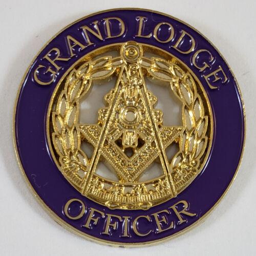 Masonic Grand Lodge Officer Large Round  Lapel Pin Mason (SCA) Freemason
