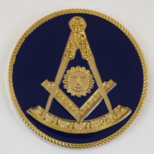 Mini Auto Emblem Past Master Metal Masonic Freemason Mason