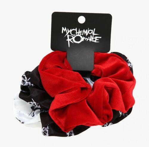 MY CHEMICAL ROMANCE HAIR SCRUNCHIE SET Ponytail Holder Merch Tour Black Parade