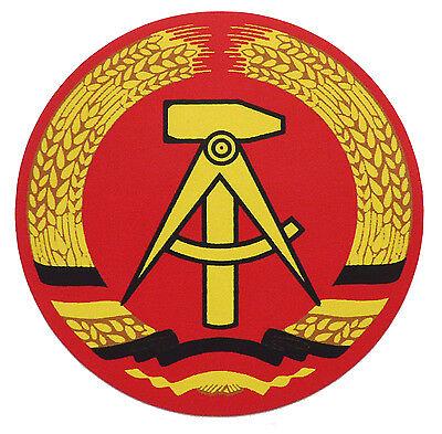 Aufkleber DDR Emblem,  Ø  ca. 7 cm