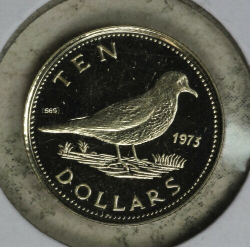 Nice 1973 Proof Uncirculated Bahamas $10 Gold coin!!