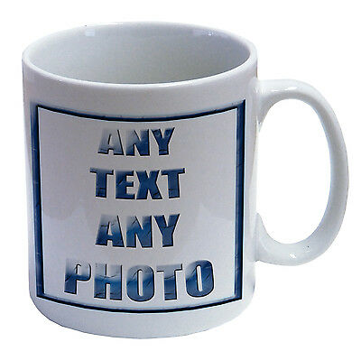 100  PHOTO DYE SUB, MUGS ANY PHOTO TEXT OR BOTH !!