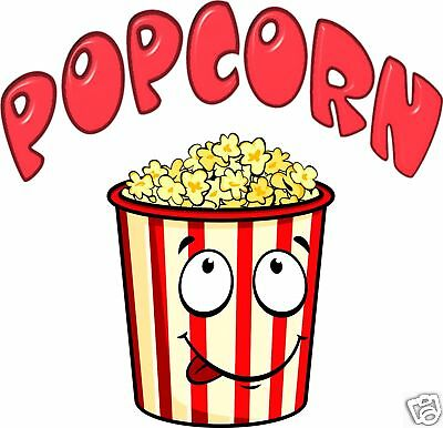 Popcorn Concession Decal 14 Vendor Fast Food Truck Restaurant Cart Stand Sticke