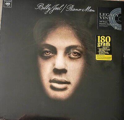 "BILLY JOEL - PIANO MAN - 180 GRAM VINYL LP "" NEW , SEALED "" LEGACY RECORDING"