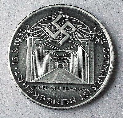ADOLF HITLER COMMEMORATIVE GERMAN COIN 1938 * EXONUMIA * THIRD REICH WW2