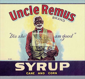 REPRINT-PICTURE-old-can-label-UNCLE-REMUS-BRAND-SYRUP-cane-and-corn-1924-7x6-1-2
