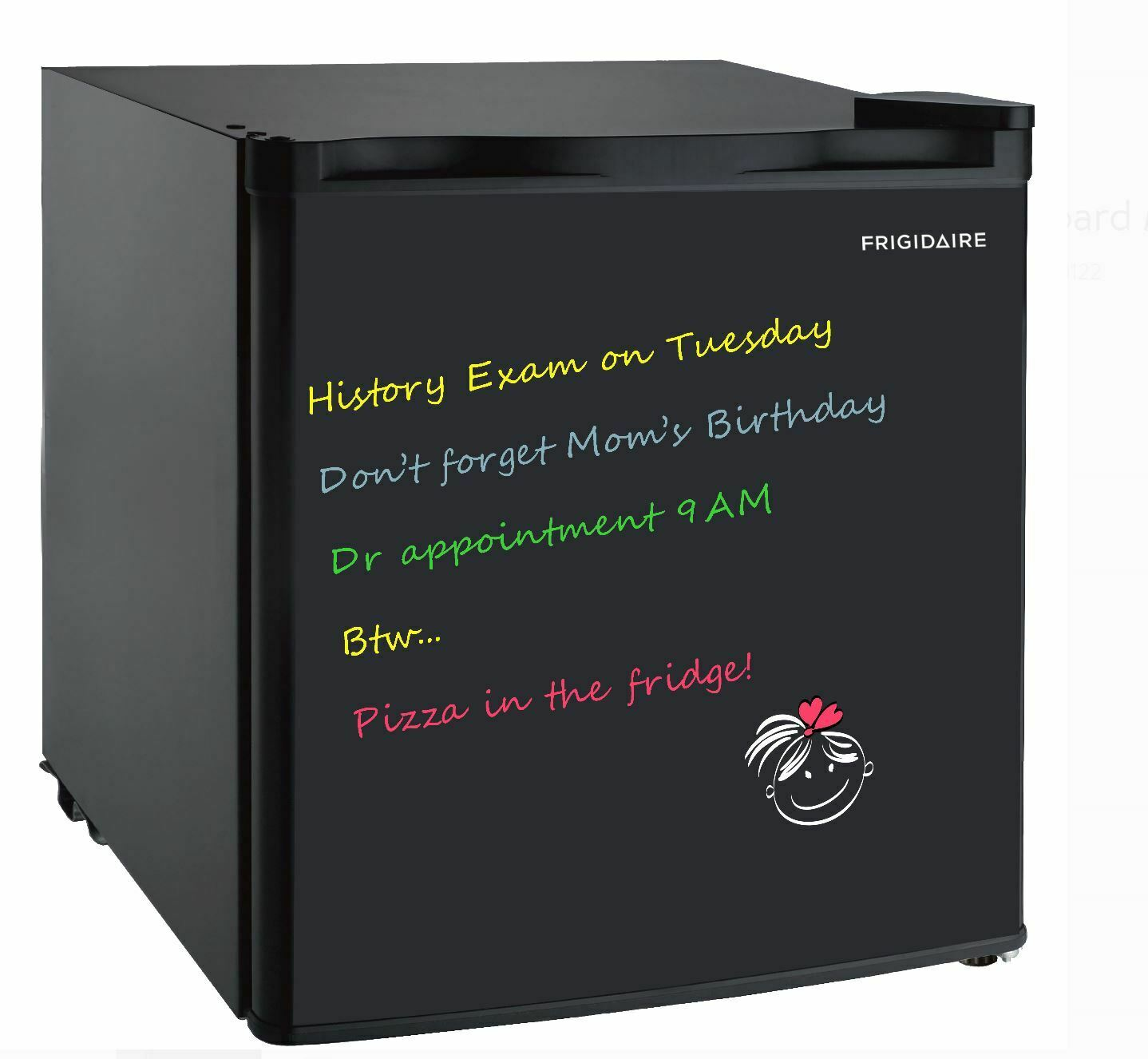 Frigidaire EFR176-Black 1.6 Cu Ft Retro Fridge, Medium, Blac