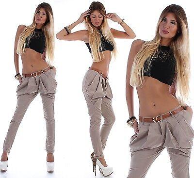 Reiten Jeans (Damen Chino Boyfriend Jeans Boyfriendhose Hüfthose Hose Beige Reiterhose H022)