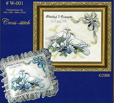 GORGEOUS WEDDING DOVES to CROSS STITCH by DYAN ALLAIRE Dyan Allaire Cross Stitch
