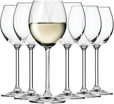 Krosno Venezia Weißweingläser Weinglas mit Stiel | Set von 6 | 250 ML